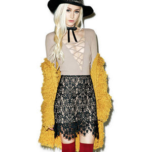 "For Love & Lemons ""Vika"" lace mini skirt — NWOT"